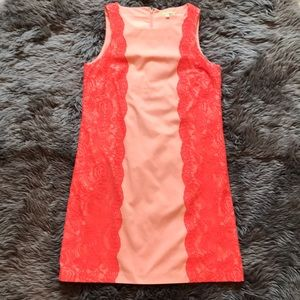 Gianni Bini Peach lace dress
